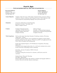 chic sample resume for fresh graduate for 5 samples of cv for