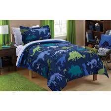 home design brand sheets mainstays kids dino roam bed in a bag bedding set walmart com