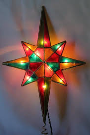 Lighted Christmas Star Ornaments 80s 90s vintage christmas tree topper ornament lighted star