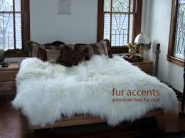 Faux White Sheepskin Rug Premium Faux Fur Sheepskin Rug Accent Throw 7 U0027 New By Fur Accents