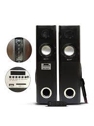 home theater tower speakers punta venus t2 floor standing tower speakers with bluetooth usb fm