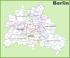 World Map Germany by Berlin Districts Map
