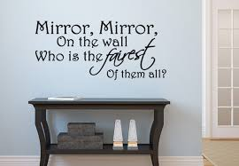 wall decals quotes quotesgram mirror mirror on the wall stylish decal quote