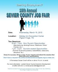 Job Fair Resume by 18th Annual Sevier County Job Fair Is Wednesday March 18th