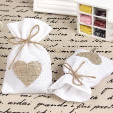 burlap favor bags 12pcs lot 9 5x14 5cm in heart burlap favor bags wedding
