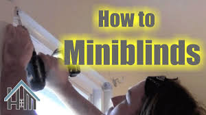 how to install mini blinds easy home mender youtube