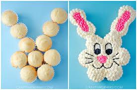 Pull Apart Easter Bunny Cupcake Cake Crafty Morning - Pull apart cupcake designs