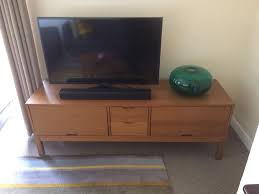 ikea stockholm tv cabinet with 2 drawers in bradford on avon
