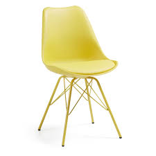 chaises jaunes acheter 4 chaises salle ralf métal plastique jaunes