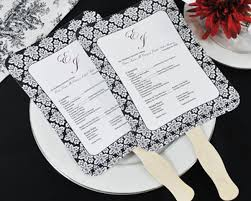 paper fan wedding programs diy designer wedding fan program kit