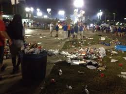 some of the aftermath at the florida georgia football game