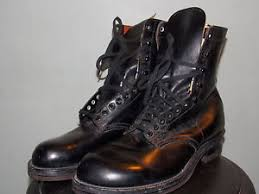s boots size 9 1 2 1950 s dead stock black leather boots s size 9 1 2 d