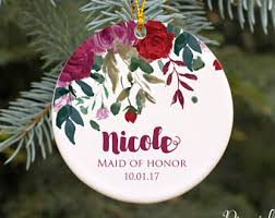 bridesmaid ornaments rainforest islands ferry