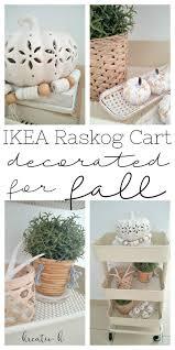 ikea raskog cart decorated for fall kreativk
