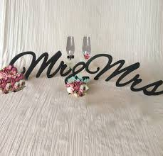 Mr And Mrs Sign For Wedding Aliexpress Com Buy Black Elegant Script Mr U0026 Mrs Signs For Head