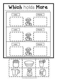 capacity non standard measurement for kindergarten grade one