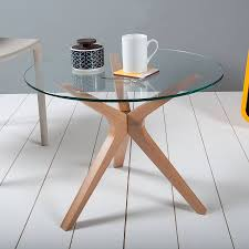 glass round dining table increasing room look with glass table