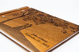 personalized scrapbook albums custom wood wedding photo album guestbook scrapbook waldengoods