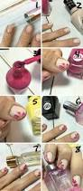 dry brush flower nail art tutorial perfect for short nails