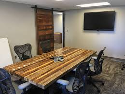 Wood Conference Table Business Grain Designs