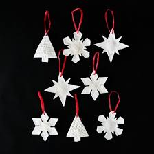 make some ornaments using salt dough ceramic