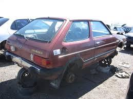 subaru hatchback 1980 junkyard find 1982 subaru gl