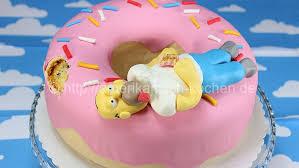 simpsons doughnut cake homer simpson cake american kochen