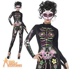 Womens Skeleton Halloween Costume Sugar Skull Cat Costume Dead Womens Skeleton Fancy