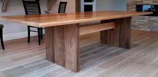 Modern Dining Furniture Hand Made Modern Dining Table Walnut By Aaron Smith Woodworker