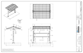 security guard house floor plan standard pavilions and shelters u2013 romtec inc