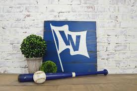 Home Decor Chicago Chicago Cubs W Flag Sign Rustic Home Decor Cubs Decor Cubs