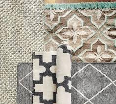 jute lattice rug gray ivory pottery barn