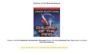 children of the mind audiobook free
