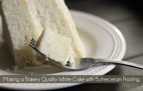 making a bakery quality white cake with buttercream frosting mom