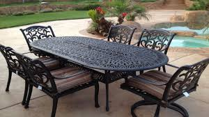 Oval Wrought Iron Patio Table by Cast Iron Patio Furniture For Sale G099 S Pair Vintage French