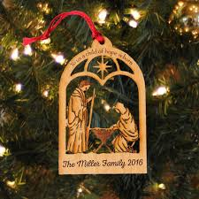 ornament nativity personalized christian o