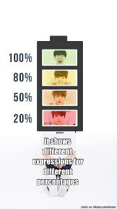 Battery Meme - show battery percentage allkpop meme center
