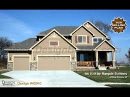 craftsman 2 story house plans design 42040 sun flower craftsman styled 2 story house plan