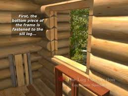 Log Siding For Interior Walls The Best Log Window Opening Detail By The Log Connection Youtube