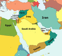 syria on map lebanon syria iraq oman qatar bahrain dubai on map and the