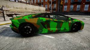 blue camo lamborghini lamborghini aventador lp760 4 camo edition for gta 4