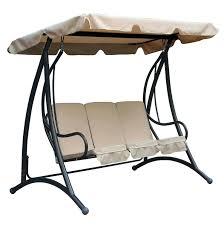 garden swing bench 2 seater ikayaa 3 seat outdoor garden patio