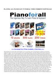 playing all piano easy tutorial video torrent download