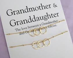 grandmother granddaughter necklace new granddaughter etsy