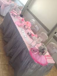 pink and grey silver elephant baby shower creations by miss dp