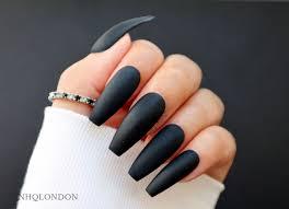 matte black matte black coffin nails nhq london