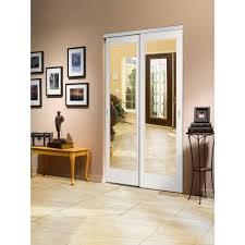 Impact Plus Closet Doors Impact Plus 48 In X 80 In Mir Mel Mirror Solid White Mdf