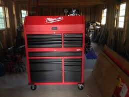 Milwaukee Cabinet Milwaukee 46 In 8 Drawer Steel Storage Chest Red And Black 48 22