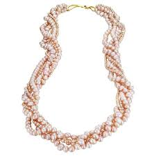 pink pearl gold necklace images Naomi sarna five strand pink pearl gold necklace for sale at 1stdibs jpeg