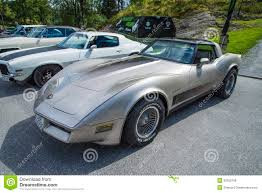 1982 corvette crossfire injection 1982 chevrolet corvette cross injection editorial stock photo